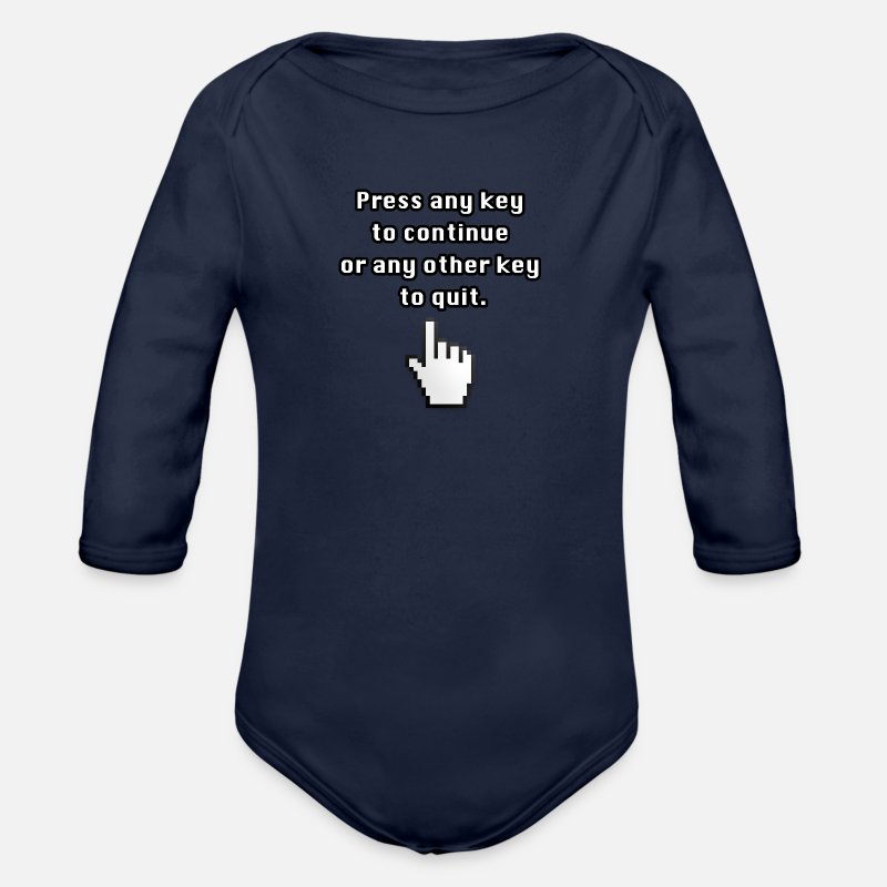 Funny Baby Clothing - Funny computer saying Joke joke programmer - Longsleeved-Sleeved Baby Bodysuit dark navy