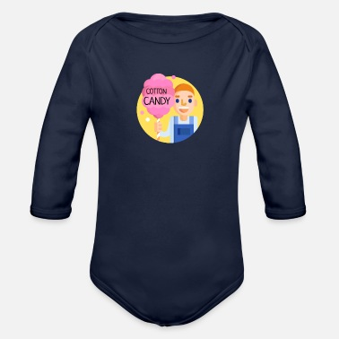 Cotton Cotton Candy | cotton candy - Organic Long-Sleeved Baby Bodysuit