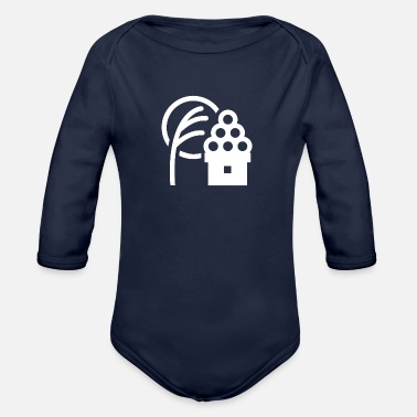 Barley barley - Organic Long-Sleeved Baby Bodysuit