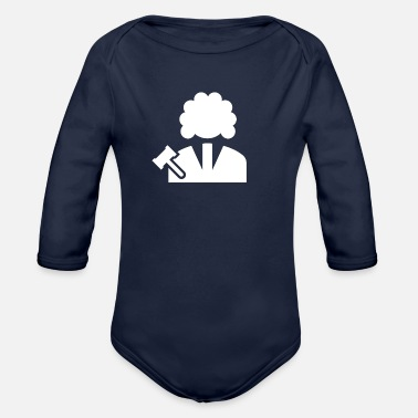 Professions Judge profession - Organic Long-Sleeved Baby Bodysuit
