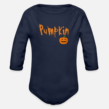 Trick Or Treat Pumpkin ... Trick or treat! Trick or treat - Organic Long-Sleeved Baby Bodysuit