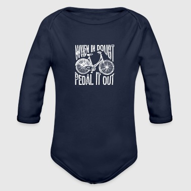 Pedal Pedal it out - Organic Longsleeve Baby Bodysuit