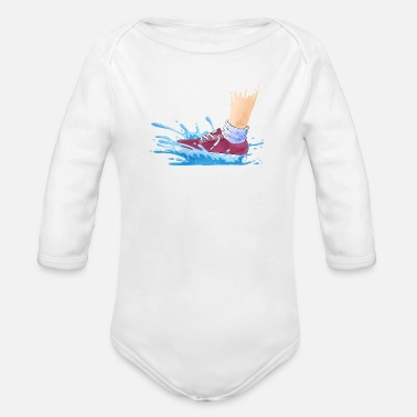 Wet Wet Shoes - Organic Long-Sleeved Baby Bodysuit