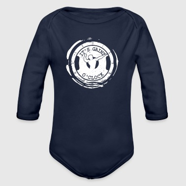 It's Gainz O'Clock - Organic Longsleeve Baby Bodysuit