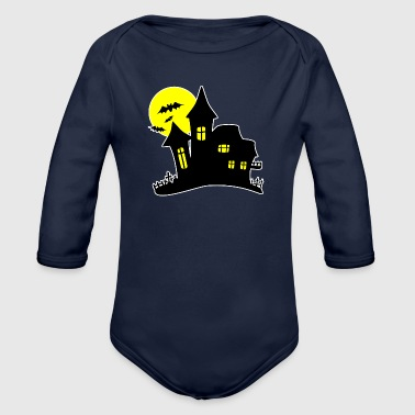 Halloween Haunted House Haunted House - Body ecologico per neonato a manica lunga