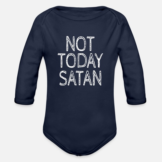 Love Baby Clothes - NOT TODAY - Organic Long-Sleeved Baby Bodysuit dark navy
