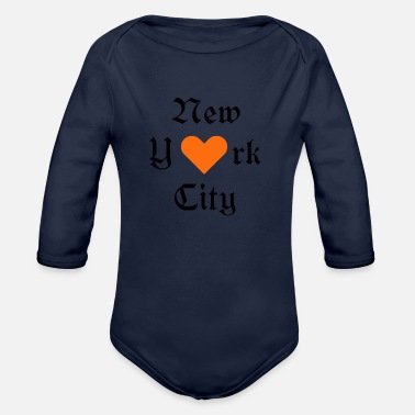 I Love New York New York, York, New York, Ville, I Love you - Body bébé bio manches longues