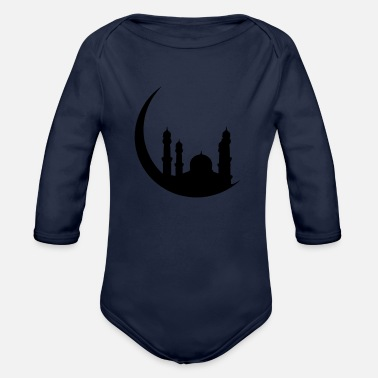 Islam Mosque Half Moon Orient - Organic Long-Sleeved Baby Bodysuit