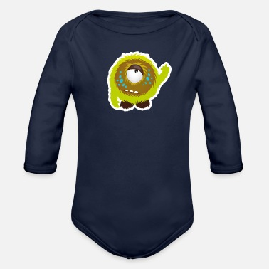 Obscene Sweet little obscene Monster  - Organic Long-Sleeved Baby Bodysuit