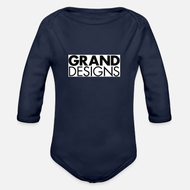 Grand GRAND DESIGNS - Organic Long-Sleeved Baby Bodysuit