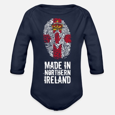 Northern Ireland Made In Northern Ireland / Northern Ireland - Organic Long-Sleeved Baby Bodysuit
