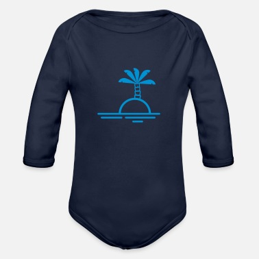 Lonely island - Organic Long-Sleeved Baby Bodysuit