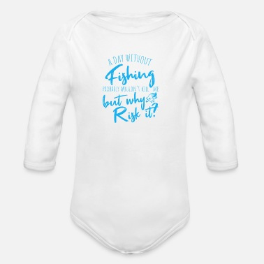 Threatened Is fishing life threatening? - Organic Long-Sleeved Baby Bodysuit