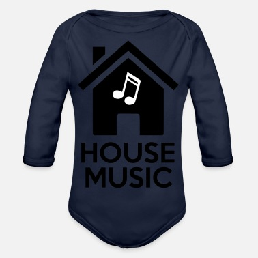 house music - Organic Long-Sleeved Baby Bodysuit