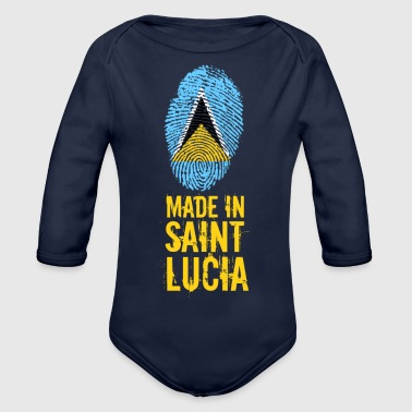 Made in Saint Lucia / St. Lucia - Organic Longsleeve Baby Bodysuit