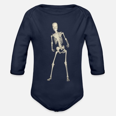 Skeletons Skeleton skeleton - Organic Long-Sleeved Baby Bodysuit