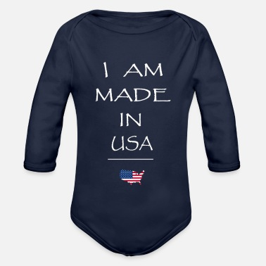 Made in USA - Baby Bio Langarmbody