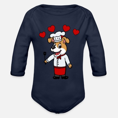 Kitchen Chef cook kitchen chef - Organic Long-Sleeved Baby Bodysuit