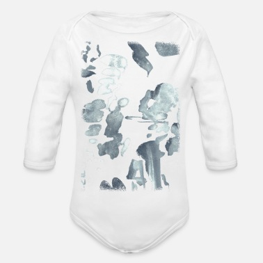 Silver silver - Organic Long-Sleeved Baby Bodysuit