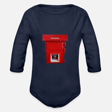 Fire big fire alarm - Organic Long-Sleeved Baby Bodysuit