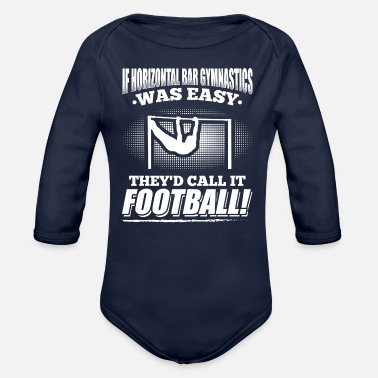 Horizontal Bar If Horizontal bar gymnasics - Organic Long-Sleeved Baby Bodysuit