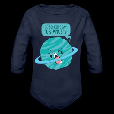 Gift Planet Uranus Quotes Comic Space Alien - Økologisk langermet baby-body