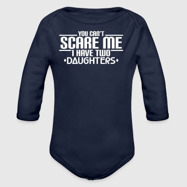 I HAVE TWO DAUGHTERS - DAUGHTERS - CHILDREN - DAD - Organic Longsleeve Baby Bodysuit