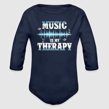 music is my therapy - Baby Bio-Langarm-Body
