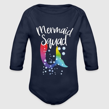 Mermaid squad - Baby Bio-Langarm-Body