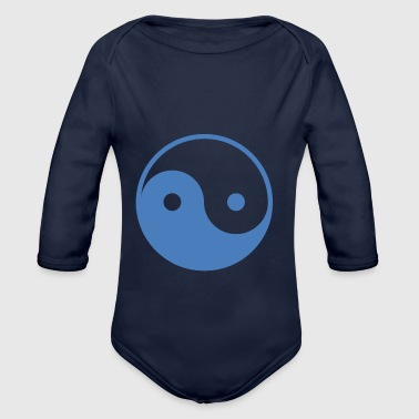 The ying and yang - Organic Longsleeve Baby Bodysuit
