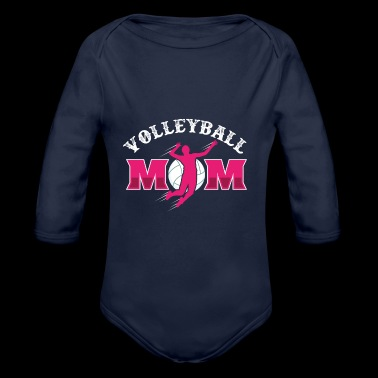 Volleyball Mother Dredging Ace Flatbed Game Mom - Organic Longsleeve Baby Bodysuit