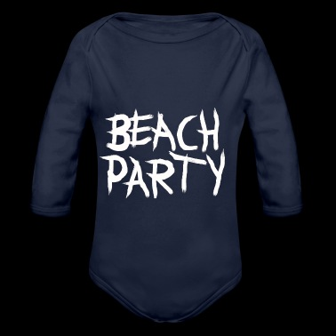 BEACHPARTY_PINSEL - Økologisk langermet baby-body