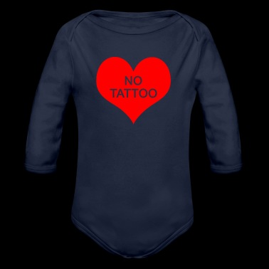 Tattoo Heart Pure Skin Body Art Regalo divertente - Body ecologico per neonato a manica lunga