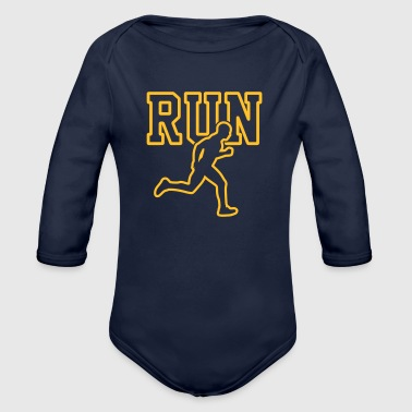 Run - Running - Laufshirt - Marathon - Triathlon - Baby Bio-Langarm-Body