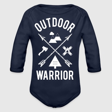 Outdoor Warrior - Baby Bio-Langarm-Body