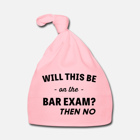 No Baby Clothes - Will This Be On The Bar Exam? - Baby Cap light pink