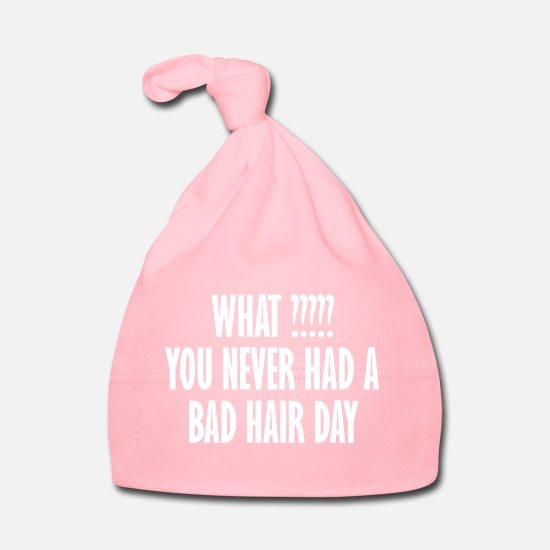Love Baby Clothes - what you never had a bad hair day - Baby Cap light pink