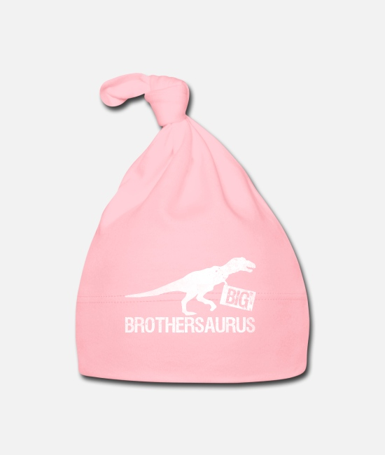 Big Baby Caps - Big Brothersaurus - Big Brother Shirt Gift - Baby Cap light pink