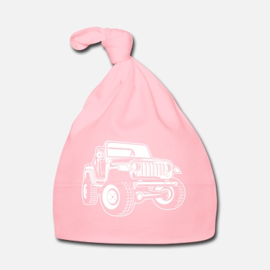 Military Off-road vehicle / Jeep SUV 03_white - Baby Cap