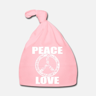 Hippiliike Peace Love T-paita Peace and Love Peace Sign - Vauvan myssy