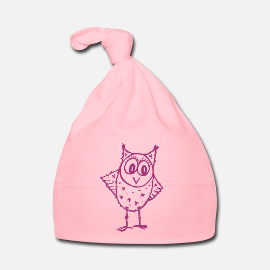 Mousepad Baby Clothes - Owl Trudi magenta - Baby Cap light pink