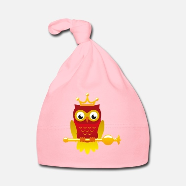 Owl King owl with scepter - Baby Cap