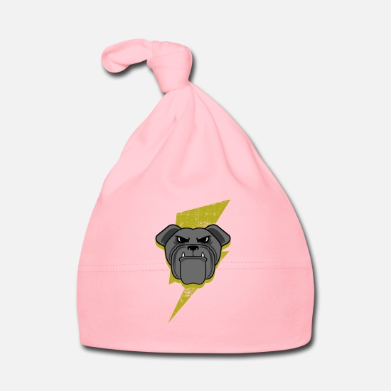 Pet Baby Clothes - Lightning English Bulldog graphic - Baby Cap light pink