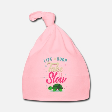 Slow Life is Good Take it's Slow Turtle Gift - Baby Cap
