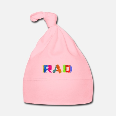 Luminoso Rad Colorful Artistic One Word Design - Cappellino neonato