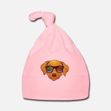 Jack Cool dog with sunglasses summer cartoon - Baby Cap