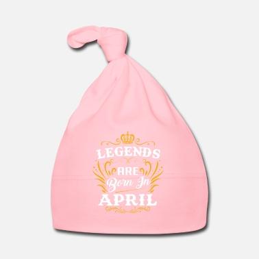 Aprile Le leggende sono nate ad aprile - Cappellino neonato d9431828aff6