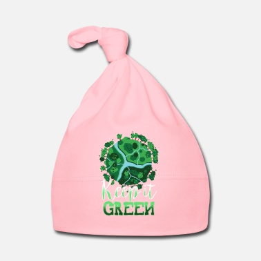 Global Keep it green environmental protection t-shirt gift - Baby Cap