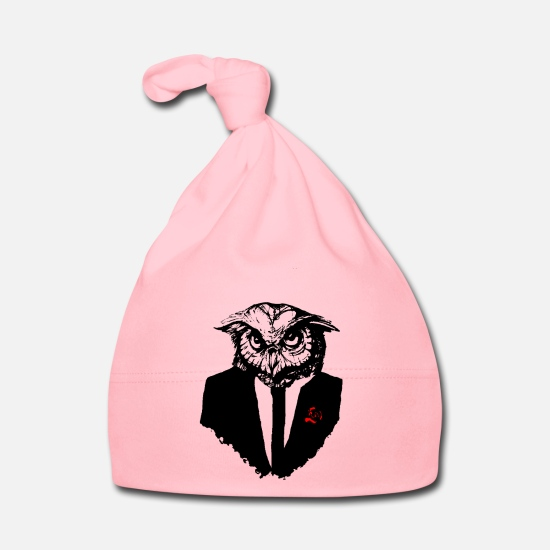 Owl Baby Clothes - hibou mosking - Baby Cap light pink