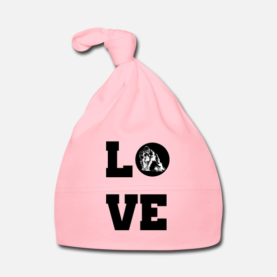 Love Baby Clothes - Love guerrilla, gift idea - Baby Cap light pink